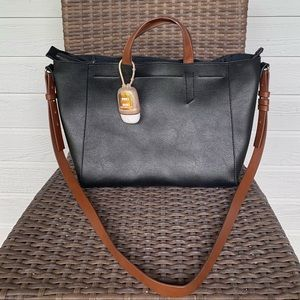 Mango Contrast Leather Bag